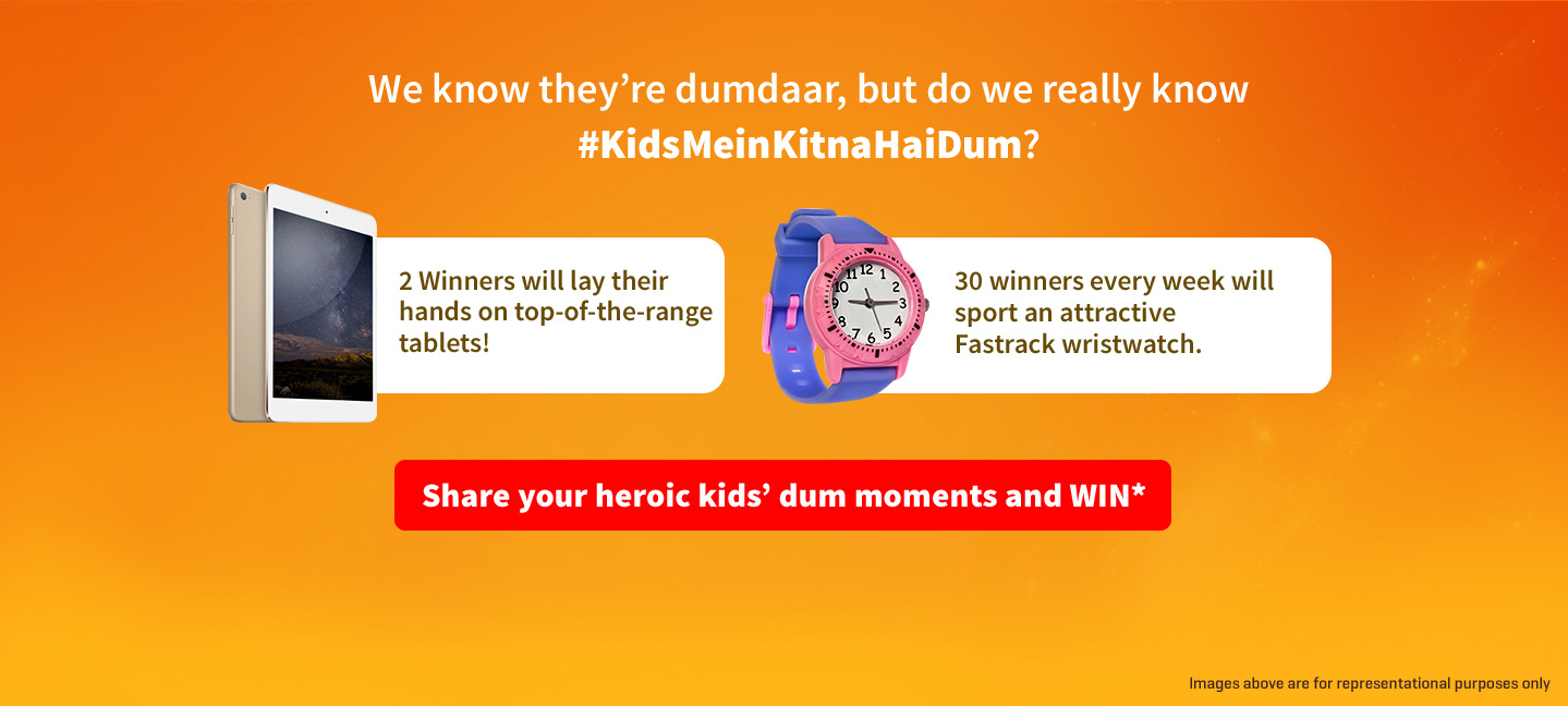 Share your heroic kids' dum moments and WIN*