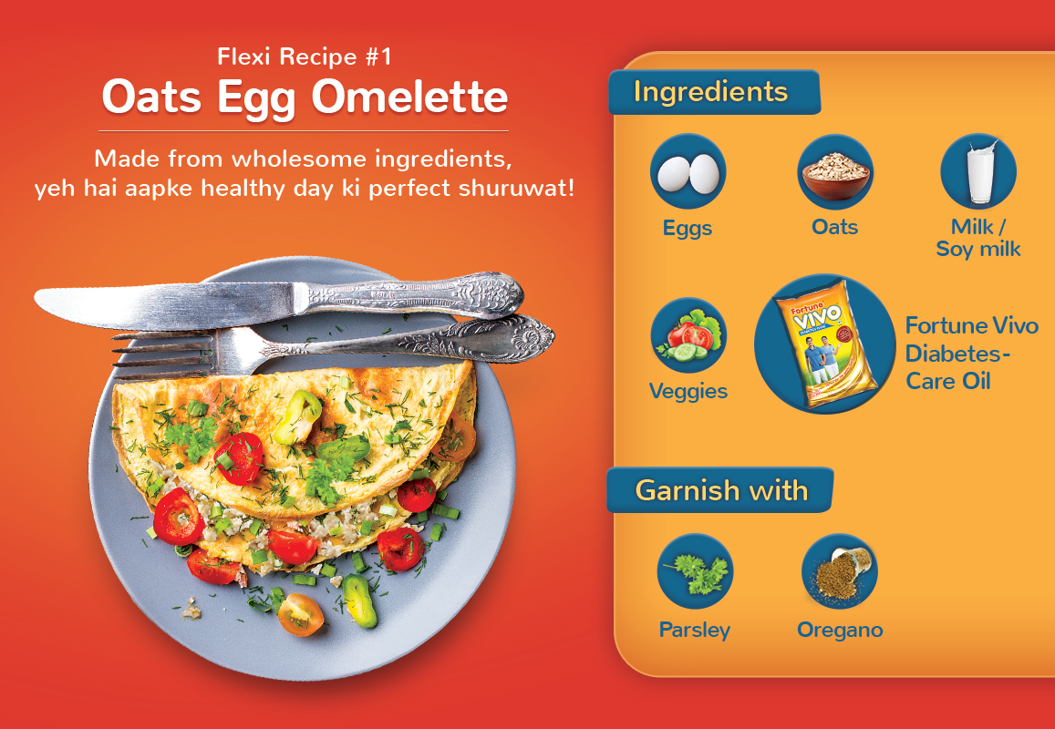 Oats Egg Omelette: A healthy start to stay ahead of diabetes!