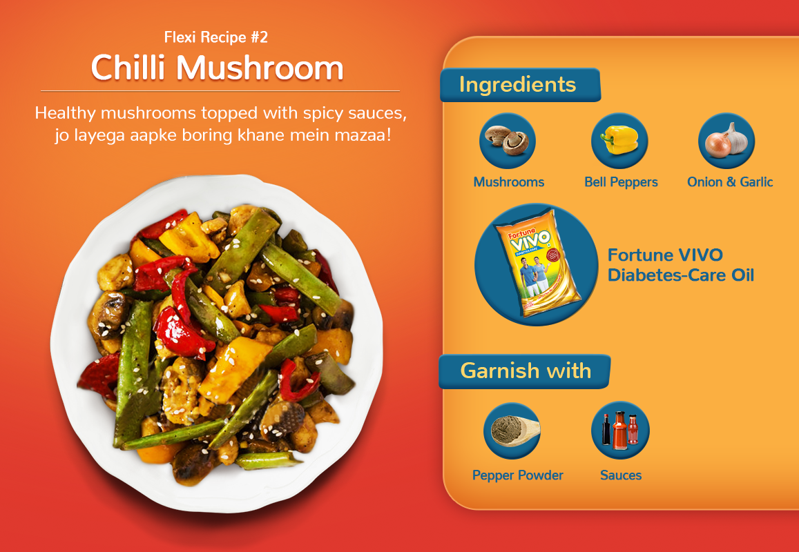 Chilli mushroom for a mighty boost to help you stay ahead of diabetes