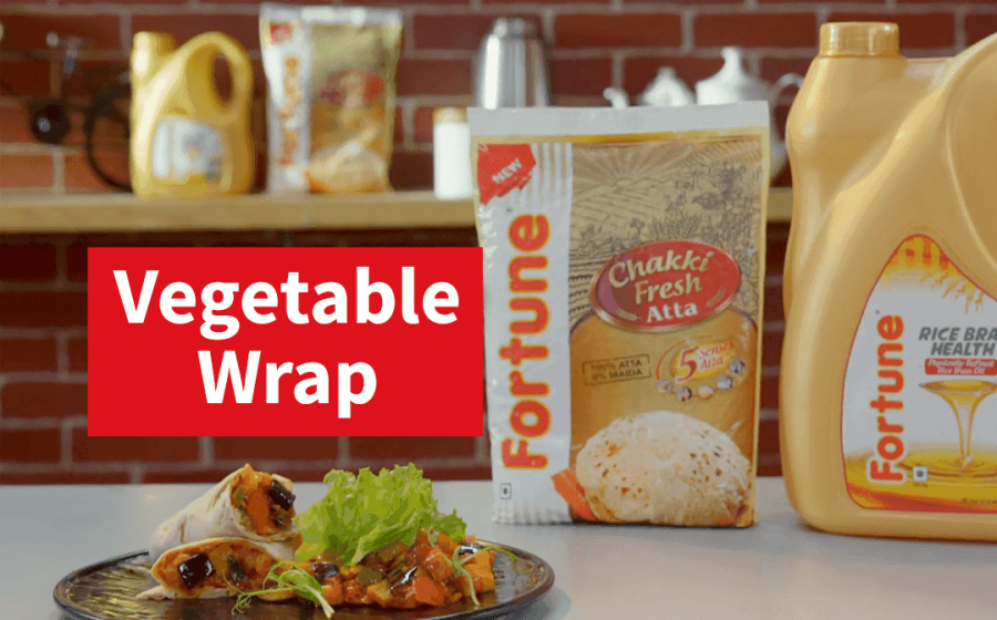 Fortune Healthy Heart Recipes | Vegetable Wrap | Chef Ajay Chopra