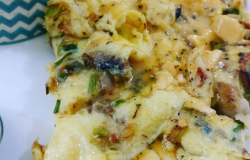 <p>I prefer an open omlette. I whisk well and throw in a lot of cheese, spring onions, chives and mushrooms. I also add some milk while whisking.</p>