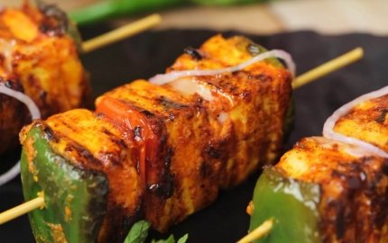 Retaining the smoky flavour of paneer tikkas without a tandoor
