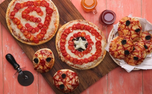 Superhero pizzas for your super kids