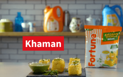 Fortune Besan Scrumptious Recipes | Khaman | Chef Shivani Mehta