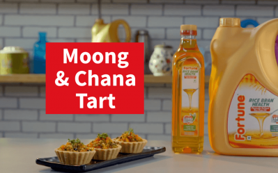 Fortune Rice Bran Healthy Heart Recipes | Moong Chana Tart | Chef Pranav Joshi
