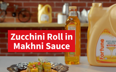 Fortune Healthy Heart Recipes | Zucchini Roll In Makhni Sauce |Chef Ajay Chopra