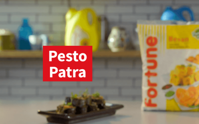 Fortune Groundnutt Activ Scrumptious Recipes | Pesto Patra | Chef Pranav Joshi